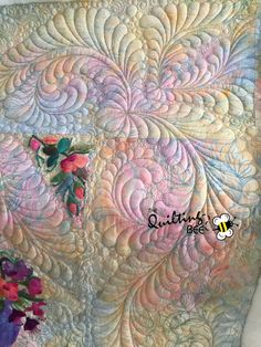 Quilt top by Elaine Neumann, quilting by Kelly Corfe, Innova longarm, machine quilting, free motion quilting