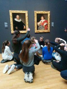 startblokcuijk groep 7 en op bezoek in het rijksmuseum in Amsterdam.