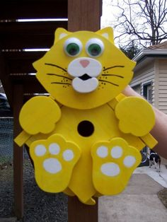Handmade Custom Wooden Functional Kitty Cat by tomscraftcastle, $30.00