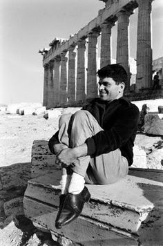 Gregory Corso http://blogfigures.blogspot.com/2010/11/gregory-corso-mad-yak.html#!/2010/11/gregory-corso-mad-yak.html    More info about Greece and the Beat Generation at: http://stephanienikolopoulos.com