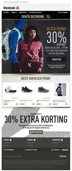 Adidas - Black Friday mailing met een mooie korting