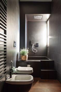 Mediterranean Home Interior Wooden Bathroom Vanity, Modern Bathroom Decor, Bathroom Spa, Bathroom Design Small, Apartment Interior Design, Bathroom Interior Design, Decor Interior Design, Bad Inspiration, Bathroom Inspiration