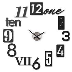 This fun clock would sit on the wall amid the art. I love the modern-esque take on the time! #StyleYourWall