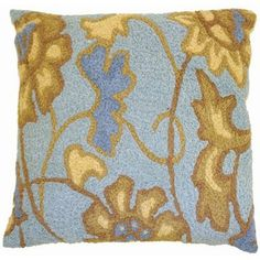Jellybean Jacobean Flower - Spa Blue Pillow by Jellybean. $30.99. Machine Washable. Never fades in sunlight.. Add a punch of color and fun to your outdoors or indoors with these great pillows from Home Comfort. The Jellybean Collection is handmade out of 50% polypropylene and 50% acrylic with polypropylene backing. 35% of the material in a JellybeanTM rug is recycled! Easy to clean just machine wash cold with like colors, no bleach and line dry. Some styles available with matchin...