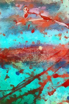 Numb by: Ryan Burton Abstract splatter watercolor art. http://fineartamerica.com/featured/numb-ryan-burton.html
