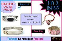 Plus que 7h pour participer au Concours Fan De Frexo !!!    Et n'oubliez pas, plus il y a de Participants, plus il y aura de Gagnants, alors plus une seconde à perdre pour tenter votre chance !    Un choix de Bracelet comme vous n'aurez jamais ailleurs : pour Femme, pour Homme, en Perle, en Argent, en Tissu, de toutes les Couleurs...     http://www.facebook.com/frexo.fr
