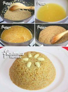 Orange Semolina Halva Recipe, How To? Greek Cooking, Cooking Time, Halvah Recipe, Orange, Turkish Sweets, Turkish Recipes, Party Desserts, Desert Recipes, Cake Recipes