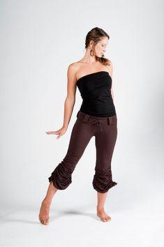 Cinchy Pants-Womens Pants-yoga lifestyle-Boho chic clothing-sexy clothing-yoga wear-bohemian pants-pants women-brown capris-brown pants