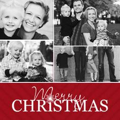 Mixbook Classic Collage Holiday Photo Cards