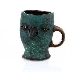 Bird Mug by Ryan Myers. Available at ClayAKar. Artist, Ceramic Artists, Ceramics, Clay