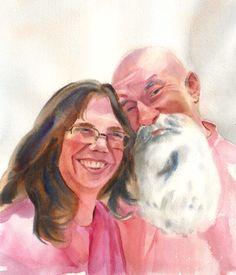 Mary & Lou - Couple Watercolor portrait