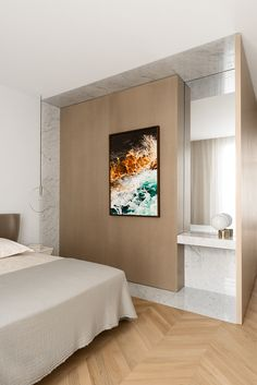 Bedroom - Apartment in St Germain, Paris by Ramy Fischler
