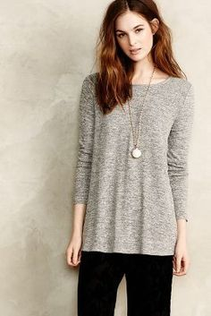 Anthropologie Britta Heathered Tunic #anthrofave