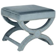 Safavieh Mystic Wedgwood Blue Accent Ottoman MCR4645D at The Home Depot - Mobile