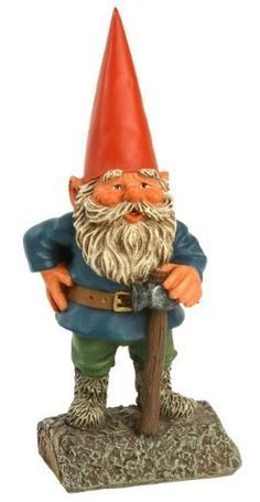 """Garden Gnome with Hammer . $32.99. 8"""" Tall. Made with Resin. Suitable for Outdoors. This Rien Poortvliet style garden gnome is approximately 8 inches tall, and made of resin. It is suitable for indoor or outdoor display."""