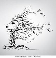 Resultado de imagen de geometric lion tattoo