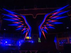 UV Psychedelic String Art Wings