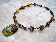 prima vera necklace    by marthasrubyacorn on Etsy, $118.00