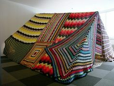 Crochet tent art by T. Karpinski