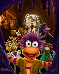 Fraggle Rock Art Print by ceramicmatt on Etsy, $15.00