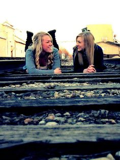 Senior Picturee, With My BESTFRIEND! I Think #Yess.you said you wanted a train track! haha @Annette Finnie Oakley