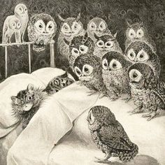 Cat's Nightmare by Louis Wain 1890