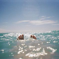 floating in the sea.