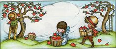 """Autumn, from the book """"morning is a little child"""", by Joan Walsh Anglund. First published in Great Britain in Copyright 1969 by Joan Walsh Anglund. Autumn Illustration, Children's Book Illustration, Joan Walsh, Monat, Timeline Covers, Timeline Photos, Book Gifts, Copics, Nursery Art"""