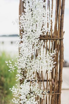 Baby's breath wedding decor {Photo by Krista A. Jones Photography via Project Wedding}