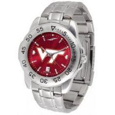 Virginia Tech Hokies Sport Steel Watch- AnoChrome Dial