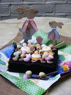 Makacska konyhája: Húsvéti gesztenyelisztes brownie