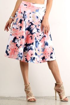 Look at this LARA Fashion Blush Floral Pleated Skirt on today! Modest Long Skirts, A Line Skirts, Women's Skirts, Floral Pleated Skirt, Floral Tunic, Fashion Beauty, Womens Fashion, Fashion 2020, Dress To Impress
