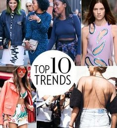 Spring 2014 Top 10 Trends:   Not only is this a quick list, but it also tells you how to wear them.
