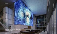 アナドルはサンフランシスコの350ミッションでメディア壁を活性化した(SOMによる建築)。
