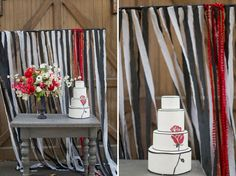 Black and white with red, Wedding Inspiration from The Night Circus