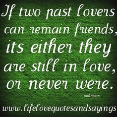 if two past lovers