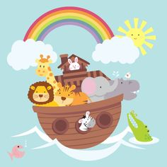 This lovely Noah's Ark print would make a super addition to a nursery.    Printed in soft unisex colours it features a lion, tiger, elephant, hippo, zebra and giraffe.    This picture is printed on 300g softly textured fine art board. It is supplied mounted with an off white mount board and is ready to frame.    Please order by 20th December 2011 for Christmas delivery.