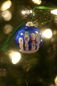Handprint Snowmen Ornaments   Outside the Blue