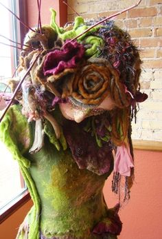 Paper mache and felt sculpture