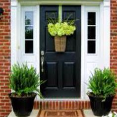 Front door colour and new hanging basket idea