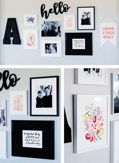 Create the prefect Gallery Wall with Minted.com Art! | landeelu.com