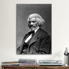 iCanvas Political Frederick Douglass Portrait Photographic Print on Canvas