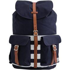 Herschel Dawson Backpack ($90) ❤ liked on Polyvore featuring bags, backpacks, herschel, pocket backpack, strap backpack, herschel rucksack and stripe backpack