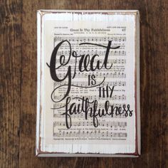 Great is thy Faithfulness Hymn Board hand by ImperfectDust
