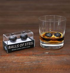 Enjoy perfectly chilled whiskey and support Testicular Cancer research in style with the sleek AfterDark Edition of our Balls of Steel.