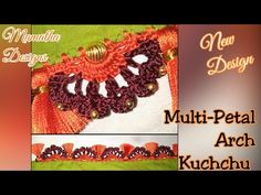Hi, this is bridal saree kuchchu design. It looks very beautiful. Saree Kuchu New Designs, Saree Tassels Designs, Chrochet, Crochet Lace, Macrame Cord, Crochet Basics, Flower Shape, News Design, Hand Embroidery