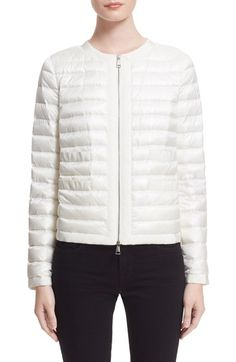 Moncler 'Alose' Short Puffer Jacket available at #Nordstrom