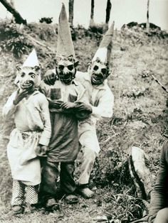 Old Halloween costumes, so cool!  100 years old. Scary and vintage.  #halloween #oldcostume #old #costume #monster #trickortreat #100yearsold #scary #vintage