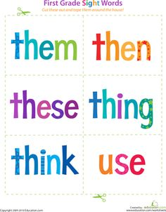 Help your child learn to recognize words on sight! These kindergarten sight words flash cards are a colorful way to bulk up your kid's word bank. Sight Word Flashcards, Teaching Sight Words, First Grade Sight Words, Education Quotes For Teachers, Kindergarten Reading, Cartoon Memes, Teaching Kids, Teaching Reading, Word Reading