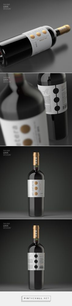 Et Cetera wine label design by Shumi Love Design (Moldova)… Wine Label Design, Wine Bottle Design, Wine Photography, Photography Logos, Wine Logo, Wine Brands, Bottle Packaging, Wine And Beer, Wine And Spirits
